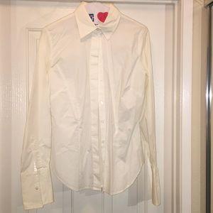 MODA INT. Crisp White Button-Down Blouse